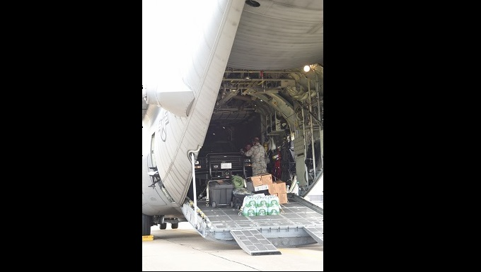 Airmen from the Texas Air National Guard's 136th Airlift Wing at Naval Air Station Fort Worth Joint Reserve Base, Texas, staging cargo and passengers prior to takeoff August 28, 2017, preparing to support those areas impacted by Hurricane Harvey. Approximately 12,000 Texas Army and Air National Guard and Texas State Guard members are now activated at the request of Texas Governor Greg Abbott. This is how the 136 AW serves … Texans serving Texans. (U.S. Air Force photo by Ms. Julie Briden-Garcia)