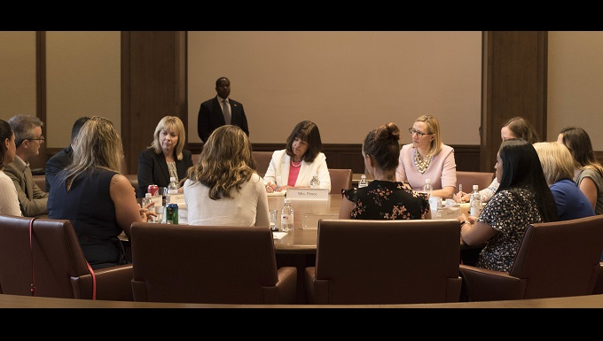 Supporting hidden warriors: Second Lady Karen Pence visits DFW military spouses
